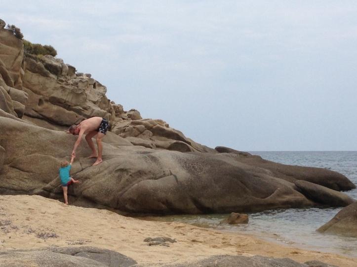 Melissi baai klimmen