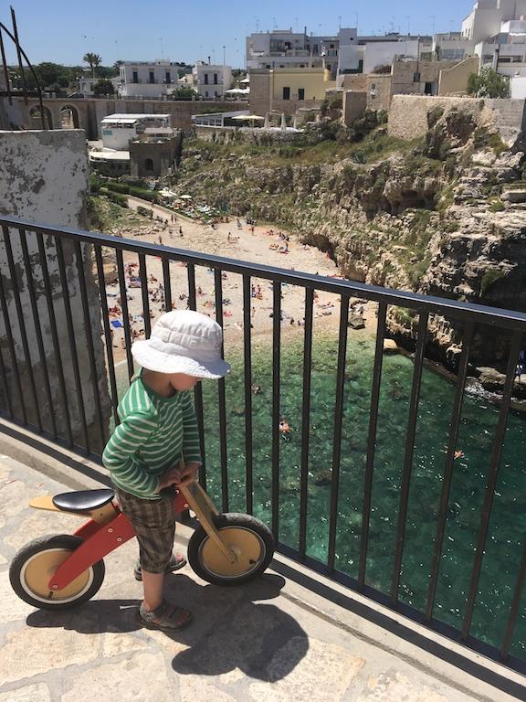Polignano uitzicht fiets